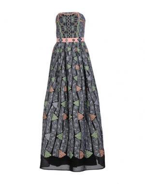Длинное платье PETER PILOTTO. Цвет: серый