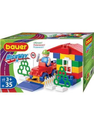 Конструктор Bauer серии Автодорога 35 эл. (в коробке) 54/54. Цвет: зеленый
