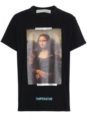 Футболка Mona Lisa Off-White. Цвет: чёрный