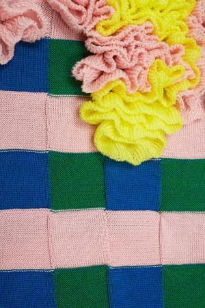 Хлопковый джемпер Delpozo. Цвет: розовый, зеленый, синий
