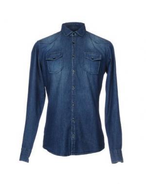 Джинсовая рубашка SSEINSE. Цвет: синий