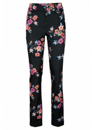 Моделирующие брюки ASHLEY BROOKE by Heine. Цвет: черный/разноцветный