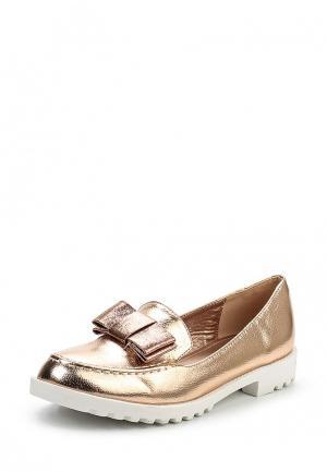 Лоферы Sweet Shoes. Цвет: золотой