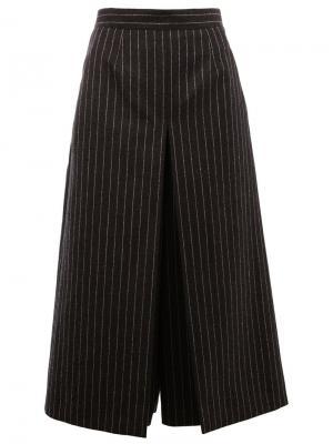 Брюки-юбка в тонкую полоску Saint Laurent. Цвет: серый