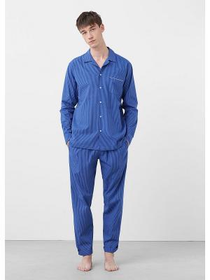 Пижамный комплект  PYWO MANGO MAN. Цвет: синий