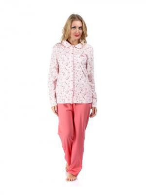 Комплект (кофта+брюки) CTMstyle. Цвет: розовый