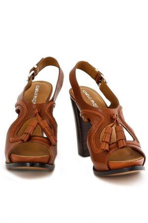 Туфли летние CARLO PAZOLINI. Цвет: коричневый