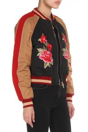 Полуприлегающая куртка с аппликацией Cristina Effe. Цвет: 2-6a b, nero