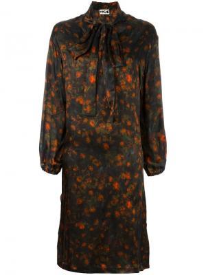 Платье с цветочным узором Hache. Цвет: многоцветный