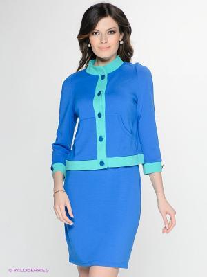 Жакет T&M. Цвет: синий, бирюзовый