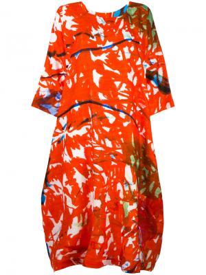 Patterned shift dress Daniela Gregis. Цвет: красный