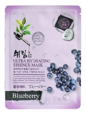Комплект увлажняющих масок с натуральным экстрактом черники, 25 мл.*3 шт. Shelim. Цвет: белый