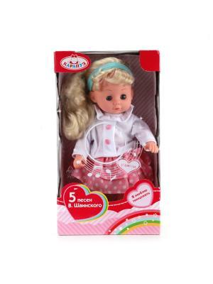 Кукла Карапуз 30см, руссифицированная, поет 5 песенок В.Шаинского. Цвет: белый, розовый