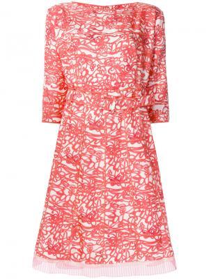 Расклешенное платье с принтом Marc Jacobs. Цвет: красный