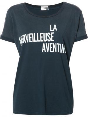 Футболка La Merveilleuse Aventure Mother. Цвет: синий