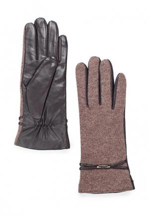 Перчатки Fabretti. Цвет: коричневый