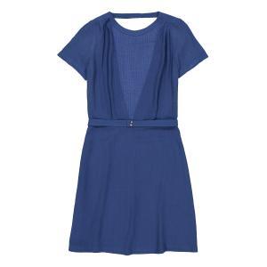 Платье с открытой спиной AMELIA SESSUN. Цвет: синий