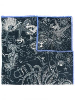 Printed scarf Odeeh. Цвет: синий