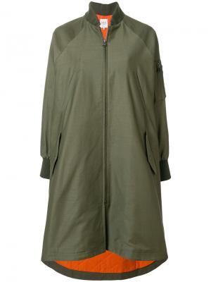 Пальто-бомбер свободного кроя Sea. Цвет: зелёный