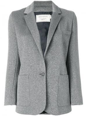 Блейзер с накладными карманами Maison Kitsuné. Цвет: серый