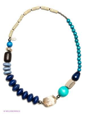 Колье Fine Laguna. Цвет: голубой, бежевый, синий