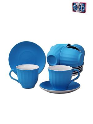 Чайный набор 12 предметов 250мл PATRICIA. Цвет: синий