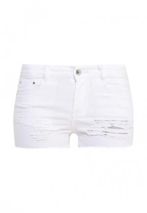 Шорты джинсовые G&G. Цвет: белый