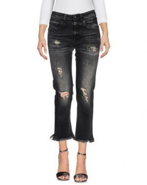 Джинсовые брюки R13. Цвет: черный