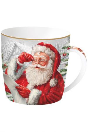 Кружка Дед Мороз в очках Easy Life. Цвет: красный, белый