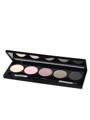 Тени для векEye Shadow Palette 59, 7,5г ISADORA. Цвет: кремовый, бледно-розовый, розовый, серый, темно-серый