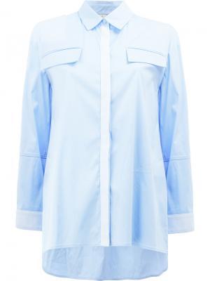 Классическая рубашка Maison Ullens. Цвет: синий