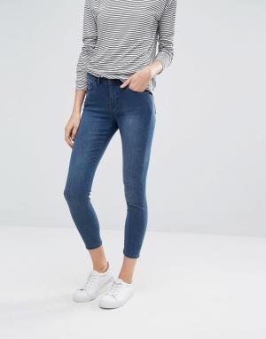 Jack Wills Супероблегающие укороченные джинсы с классической талией Fe. Цвет: синий