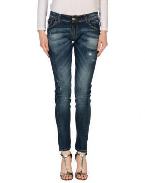 Джинсовые брюки HYRSU. Цвет: синий