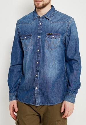 Рубашка джинсовая Wrangler. Цвет: синий
