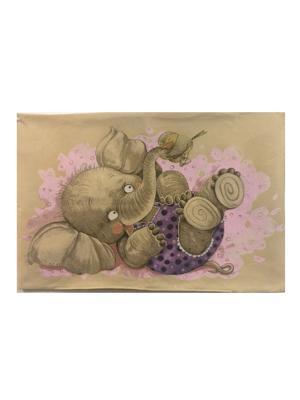 Гобеленовая наволочка  ДРУЖБА(птичка) 50х70см Рапира. Цвет: бежевый, розовый, серый