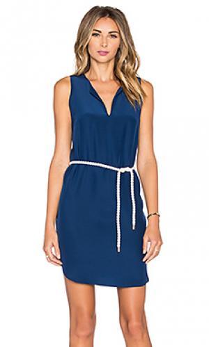 Мини платье antigua Amanda Uprichard. Цвет: синий