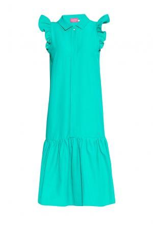 Платье из хлопка 173274 Hello Russia. Цвет: зеленый