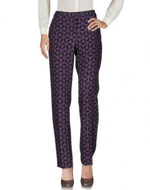 Повседневные брюки 1-ONE. Цвет: фиолетовый