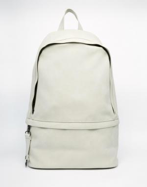 Dark Future Рюкзак из материала под нубук с молнией спереди. Цвет: серый