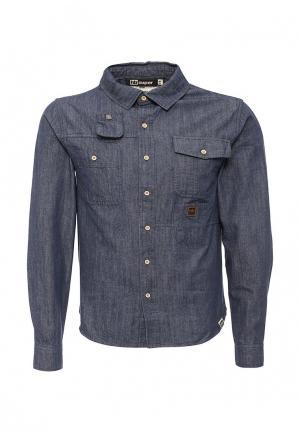 Рубашка джинсовая HoodieBuddie. Цвет: синий