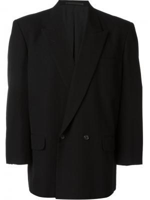 Двубортный пиджак Comme Des Garçons Vintage. Цвет: чёрный