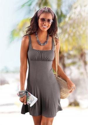 Пляжное платье BEACH TIME. Цвет: бирюзовый, коралловый, серо-коричневый