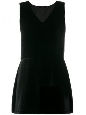 Бархатное платье Federica Tosi. Цвет: чёрный