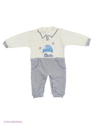 Комбинезон Babycollection. Цвет: молочный, синий