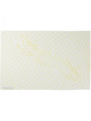 Подставка под посуду рыболовная сеть Luisa Cevese Riedizioni. Цвет: жёлтый и оранжевый