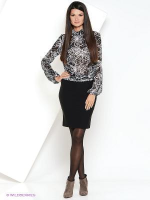 Блузка YUVITA. Цвет: черный, белый