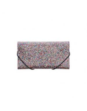 Бумажник MM6 MAISON MARGIELA. Цвет: пурпурный