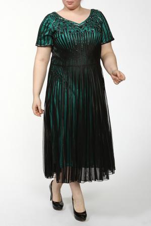Платье Lia Mara. Цвет: черный, зеленый