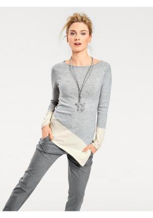 Пуловер B.C. BEST CONNECTIONS by Heine. Цвет: розовый/серый, серый/экрю, синий/экрю