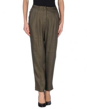 Повседневные брюки FISICO-CRISTINA FERRARI. Цвет: зеленый-милитари